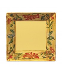 """GET Enterprises ML-103-VN Venetian Square Melamine Plate, 8""""( 1 Dozen)"""