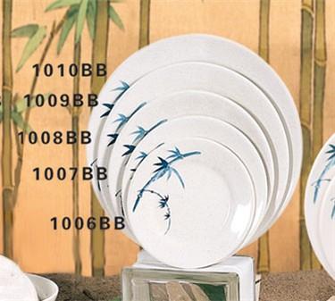 "Thunder Group 1009BB Blue Bamboo Round Plate 9-1/3"" (1 Dozen)"