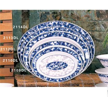 "Thunder Group 2112DL Blue Dragon Oval Deep Platter 12"" x 9"" (1 Dozen)"
