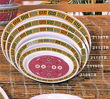 """Thunder Group 2112TR Longevity Deep Oval Platter 12"""" x 9"""" (1 Dozen)"""