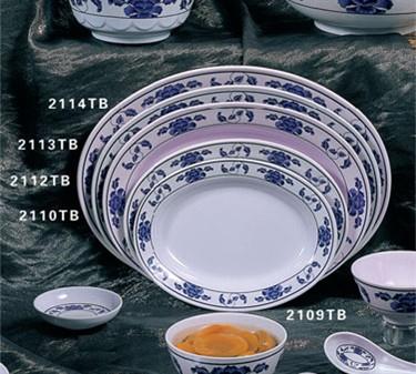 "Thunder Group 2113TB Lotus Deep Oval Platter 13"" x 9-3/4"" (1 Dozen)"