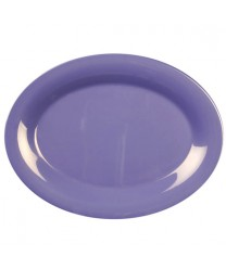 "Thunder Group CR213BU Purple Melamine Oval Platter 13-1/2"" x 10-1/2"" (1 Dozen)"