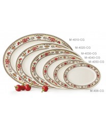 "GET Enterprises M-4010-CG Garden Dynasty Melamine Oval Platter, 16""x 12""(1 Dozen)"