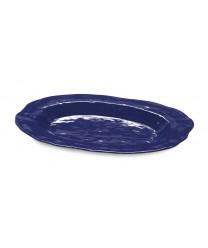 "GET Enterprises ML-144-CB New Yorker Cobalt Blue Oval Platter, 21""x 15""(3 Pieces)"
