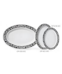 "GET Enterprises OP-630-SO Soho Oval Platter, 30""x 20-1/4""(6 Pieces)"