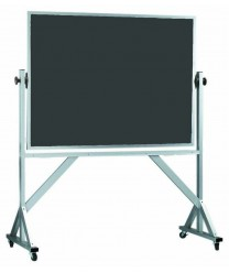 Aarco ARS3648S Reversible Free Standing Slate Porcelain Chalkboard with Wood Frame  36
