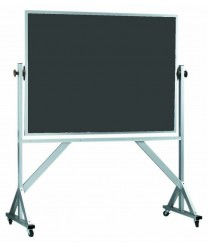 Aarco ARS4260S Reversible Free Standing Slate Porcelain Chalkboard with Wood Frame  2