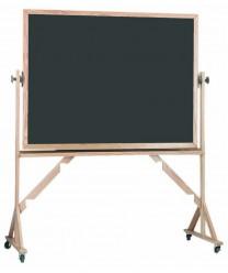 Aarco RS4260S Reversible Free Standing Porcelain Chalkboard with Oak Frame 42