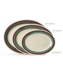 "GET Enterprises OP-135-PO Diamond Portofino Oval Platter, 13-1/2""x 10-1/4""(1 Dozen)"