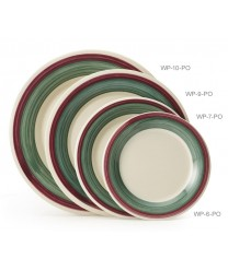 "GET Enterprises WP-9-PO Diamond Portofino Wide Rim Plate, 9""(2 Dozen)"