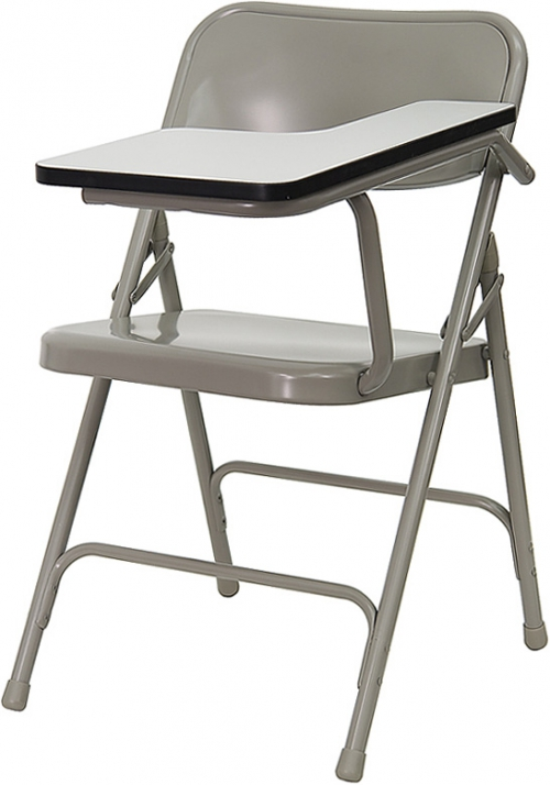 Flash Furniture Premium Steel Folding Chair with Left Handed Tablet Arm [HF-309AST-LFT-GG]