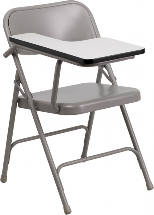 Flash Furniture Premium Steel Folding Chair with Right Handed Tablet Arm [HF-309AST-RT-GG]