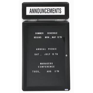 "Aarco RHD48G Radius Design Header with Graphite Frame 7.5"" x 48"""