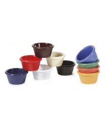 GET Enterprises RM-387-BK Black Melamine Fluted Ramekin, 2 oz. (4 Dozen)
