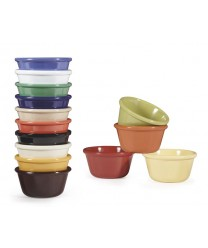 GET Enterprises RM-388-BR Brown Plain Melamine Ramekin, 3 oz. (4 Dozen)