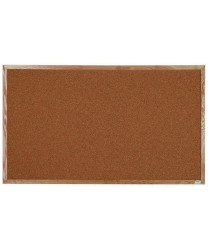 "Aarco OB3660 Natural Pebble Grain Cork Bulletin Board with Oak Frame 36""x 60"""