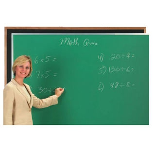 Aarco OC48120G Green Composition Chalkboard with Oak Frame 48