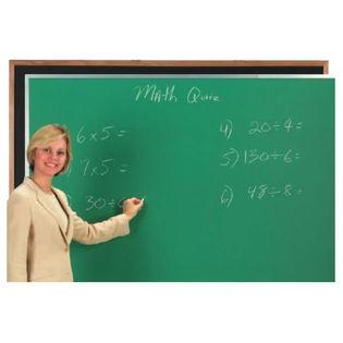 Aarco OC4860G Green Composition Chalkboard with Oak Frame 48