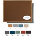 """Aarco OW4872201 VIC Cork Bulletin Board with Oak Frame, Terracotta 48"""" x 72"""""""