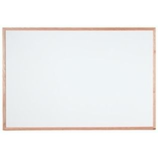 "Aarco WOC4872 Commercial Series White Melamine Markerboard with Red Oak Frame 48"" x 72"""