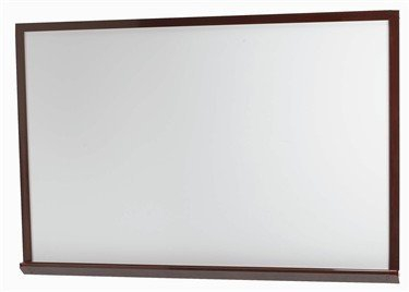 "Aarco WOS2436 White Porcelain Enamel Markerboard with Red Oak Frame  24"" x 36"""