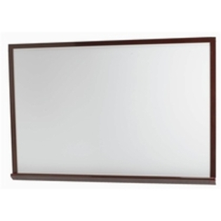 "Aarco WOS4860 White Porcelain Enamel Markerboard with Red Oak Frame  48"" x 60"""