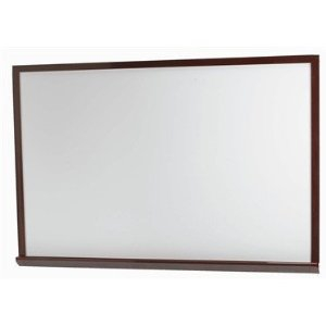 "Aarco WOS4872 White Porcelain Enamel Markerboard with Red Oak Frame  48"" x 72"""