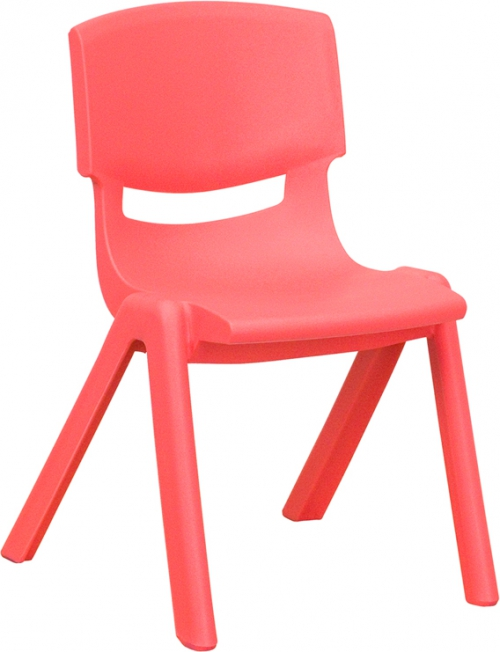 Flash Furniture Red Plastic Stackable School Chair with 12'' Seat Height [YU-YCX-001-RED-GG]