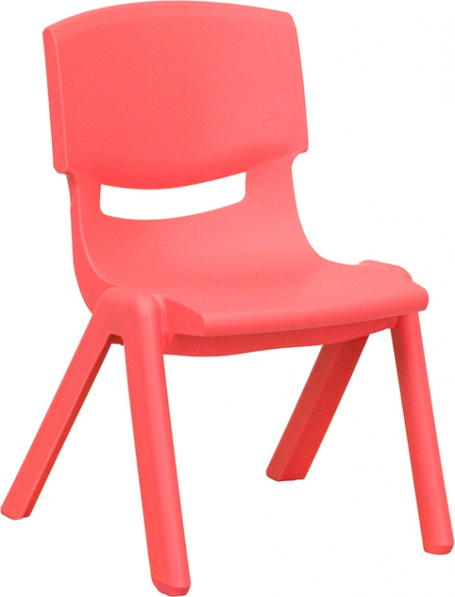 Flash Furniture Red Plastic Stackable School Chair with 10.5'' Seat Height [YU-YCX-003-RED-GG]