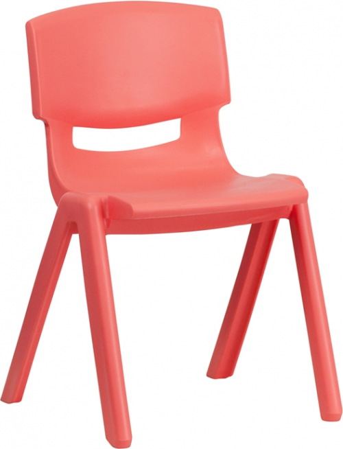 Flash Furniture Red Plastic Stackable School Chair with 13.25'' Seat Height [YU-YCX-004-RED-GG]