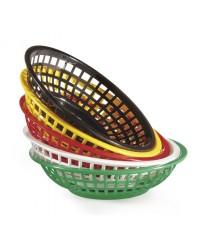 """GET Enterprises RB-820-R Red Round Plastic Bread & Bun Basket, 8""""(3 Dozen)"""