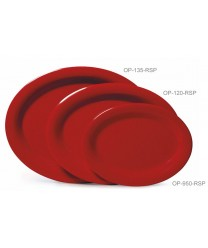 """GET Enterprises OP-950-RSP Red Sensation Oval Platter, 9-3/4""""x 7-1/4""""(2 Dozen)"""