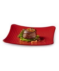 GET Enterprises ML-63-RSP Red Sensation Square Plate, 10-1/4