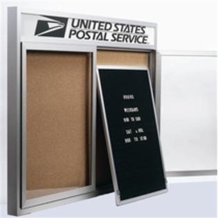 "Aarco RR4824V Removable Letter Panel for Enclosed Bulletin Board, Outdoor Model 48"" x 24"""