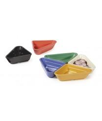 GET Enterprises RM-201-RO Rio Orange Melamine Triangle Ramekin, 2 oz. (4 Dozen)