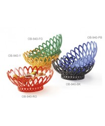 "GET Enterprises OB-940-RO Rio Orange Oval Basket, 10""x 8-1/4""(1 Dozen)"