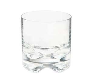 GET Enterprises SW-1429-1-SAN- CL Roc N' Roll SAN Plastic Rocks Glass, 10 oz. (2 Dozen)