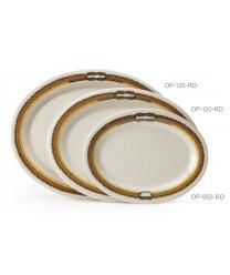 """GET Enterprises OP-135-RD Diamond Rodeo Oval Platter, 13-1/2""""x 10-1/4""""(1 Dozen)"""