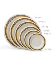 "GET Enterprises WP-10-RD Diamond Rodeo Wide Rim Plate, 10-1/2""(1 Dozen)"