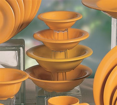Thunder Group CR5608YW Yellow Melamine Salad Bowl, 8 oz.  (1 Dozen)