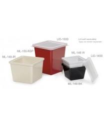 GET Enterprises ML-150-BK Black Square Melamine Crock, 3 Qt. (6 Pieces)