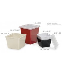 GET Enterprises ML-150-IR Ironstone Square Melamine Crock, 3 Qt. (6 Pieces)