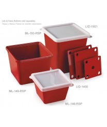 GET Enterprises ML-150-RSP Red Sensation Square Melamine Crock, 3 Qt. (6 Pieces)