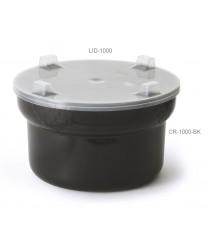 GET Enterprises CR-1000-BK Black Round Crock with Lid 1.5 Qt. (1 Dozen)