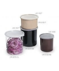 GET Enterprises CR-0150-BK Black Round Crock with Lid 1.5 Qt. (1 Dozen)