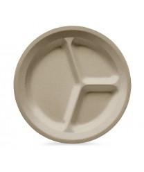 "GET Enterprises CP-532-S Sandstone SuperMel Three Compartment Plate, 11""(1 Dozen)"