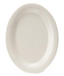"""GET Enterprises OP-950-IR Santa Fe Ironstone Oval Platter 9-3/4""""x 7-1/4""""(2 Dozen)"""