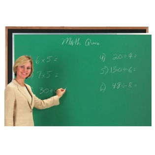 Aarco DC2436G Green Composition Chalkboard with Aluminum Frame 24