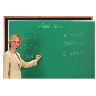 Aarco DC3648B Black Composition Chalkboard with Aluminum Frame 36