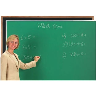 Aarco DC3660B Black Composition Chalkboard with Aluminum Frame 36